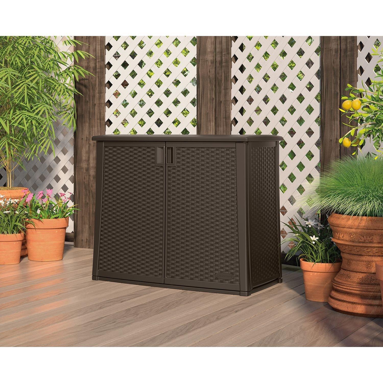 97-Gallon Outdoor Patio Cabinet Storage