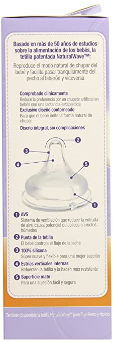 Amazon.com : Botella con NaturalWave Pezón, 8 Onza : Baby