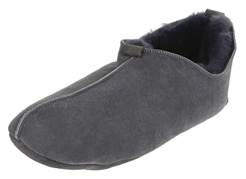 shades of order size 7 Vogar Mens Sheepskin Leather Slippers VG-27 Sheep Wool Lined