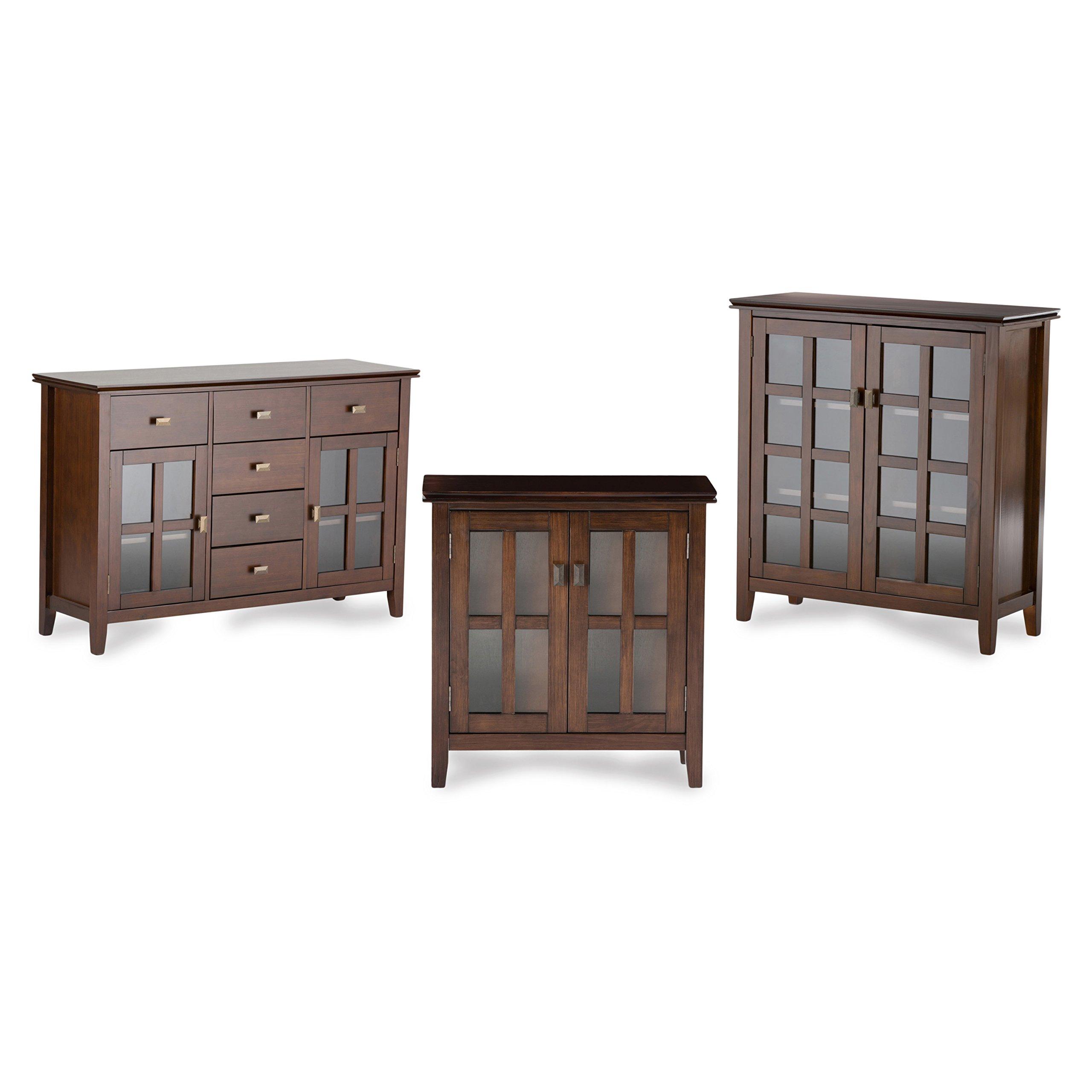 Simpli Home Artisan Solid Wood Low Storage Cabinet, Medium Auburn Brown by Simpli Home (Image #5)