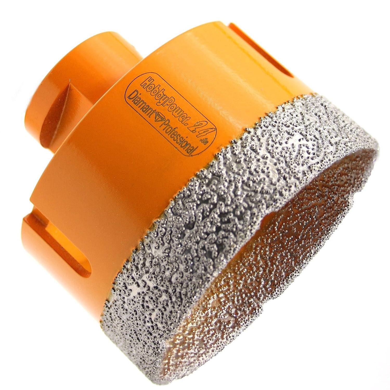 1x Diamantbohrer M14 Bohrkrone Fliesenbohrer /Ø 75mm Trockenbohrer Granit Fliesen
