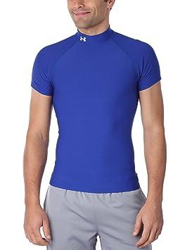 Under Armour Camiseta M/C Coldgear Compression Mock Roja: Amazon.es: Ropa y accesorios