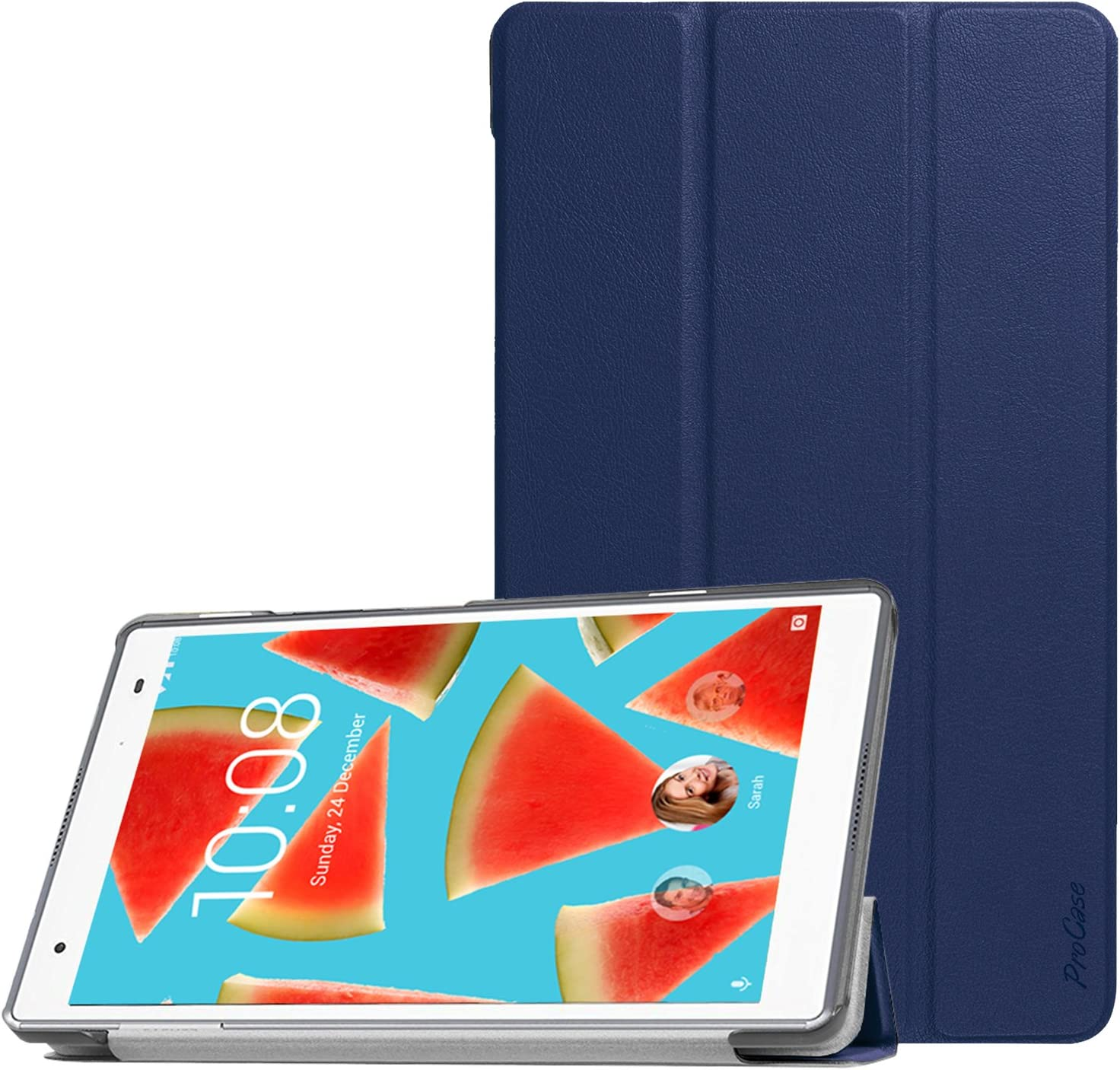 "ProCase Lenovo Tab 4 8 Case, Slim Stand Case Hard Shell Cover for 2017 Lenovo Tab 4 8"" Android Tablet -Navy"