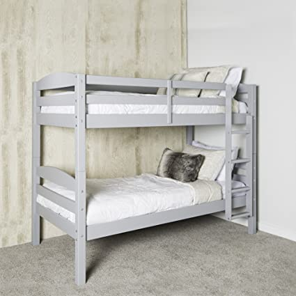 buy popular e32e2 30c76 WE Furniture AZWSTOTGY Twin Bunk Bed, Gray