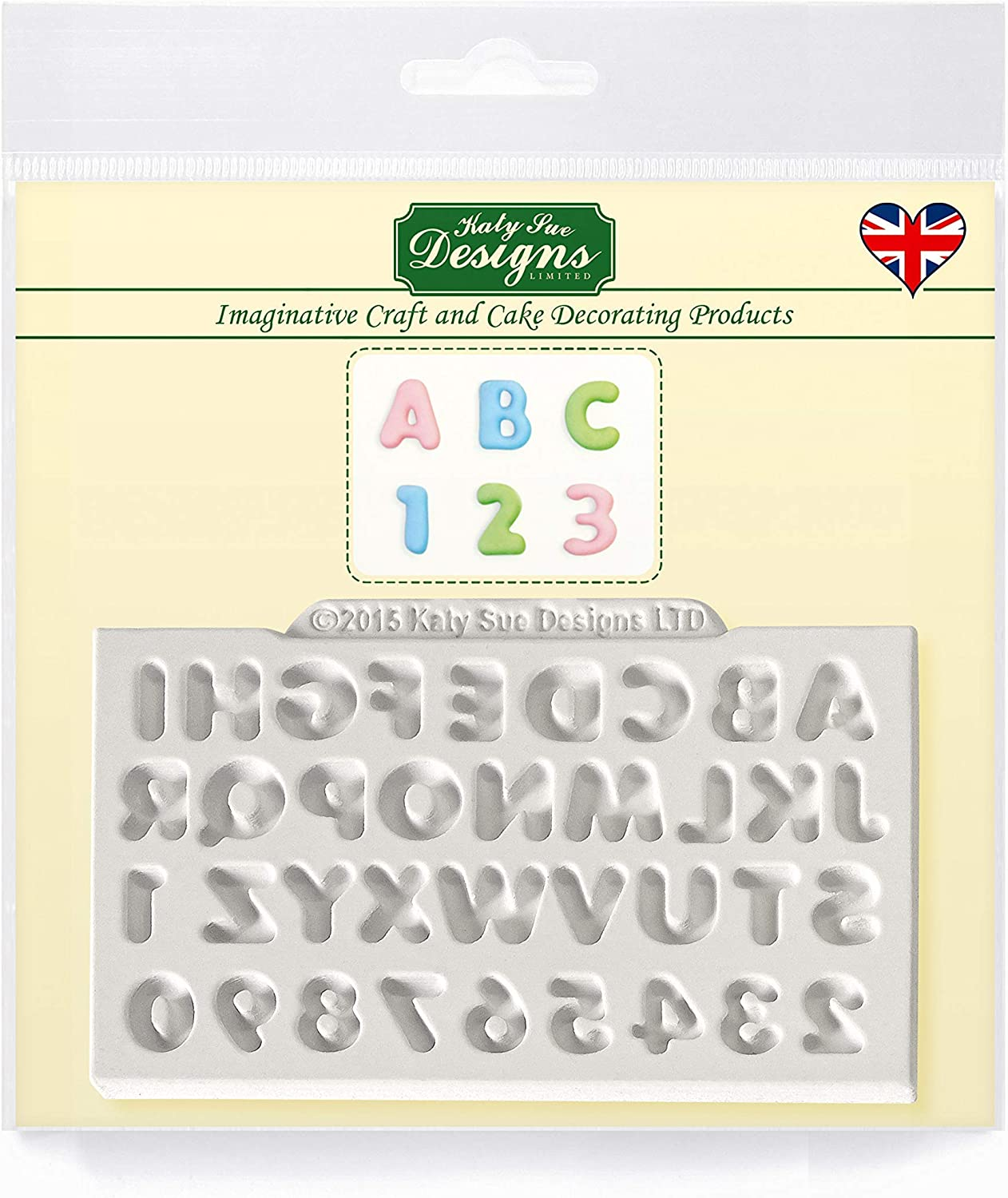Mini Domed Alphabet Silicone Mold for Cake Decorating, Crafts, Cupcakes, Sugarcraft, Candies, Cards and Clay, Food Safe