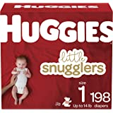 Baby Diapers Size 1, 198 Ct, Huggies Little Snugglers