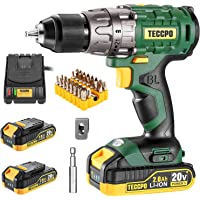 Deals on Teccpo 20V 1/2 Inch Brushless Cordless Drill Set w/Case