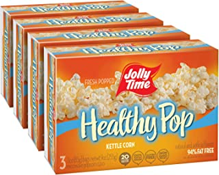 product image for JOLLY TIME Healthy Pop Kettle Corn | Sweet & Salty Microwave Popcorn - Guilt-Free Low Fat Diet Treat (3-Count Boxes, Pack of 4)