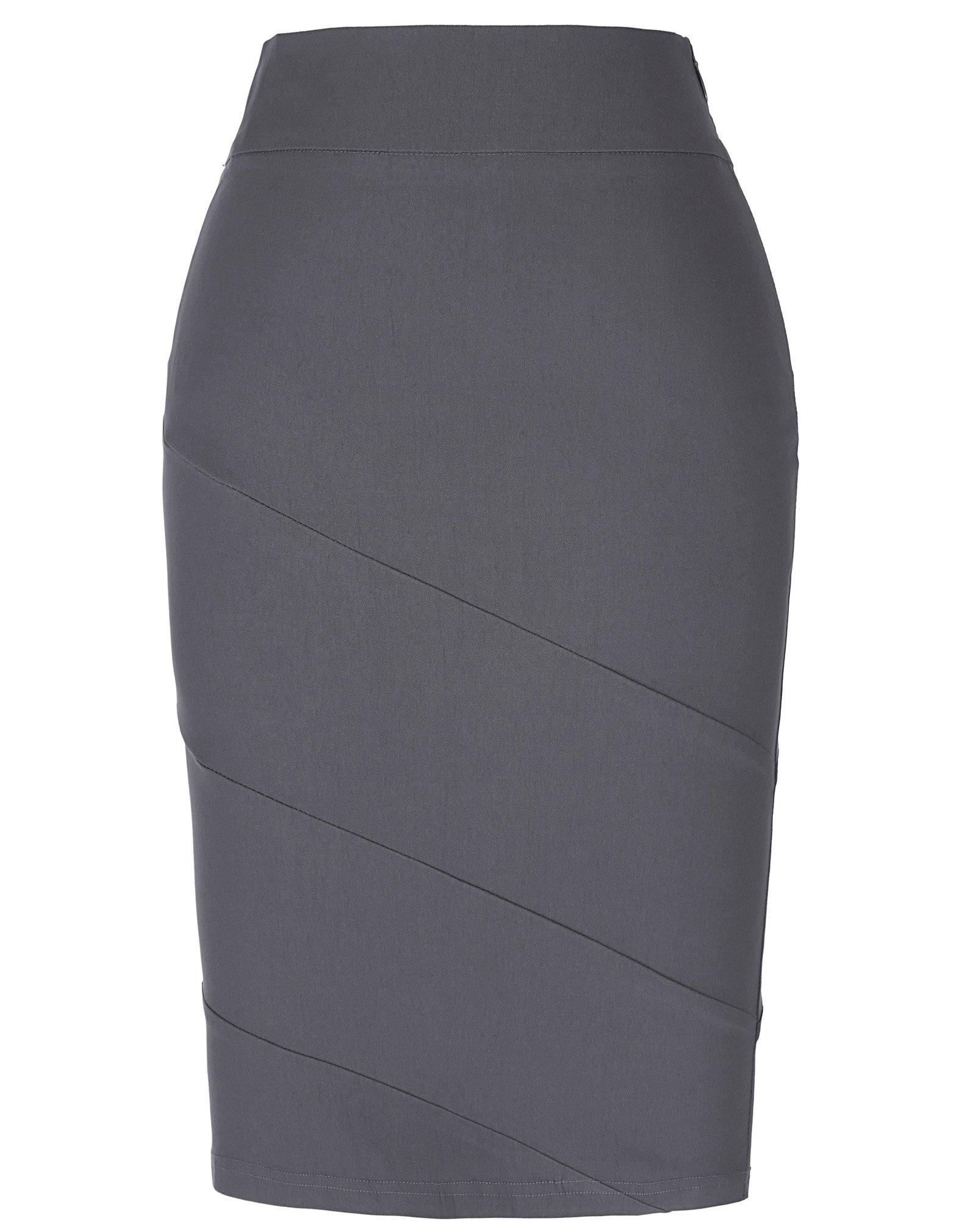 Kate Kasin Bodycon Wear to Work Stretchy Women Cotton Pencil Skirt XL KK269-2