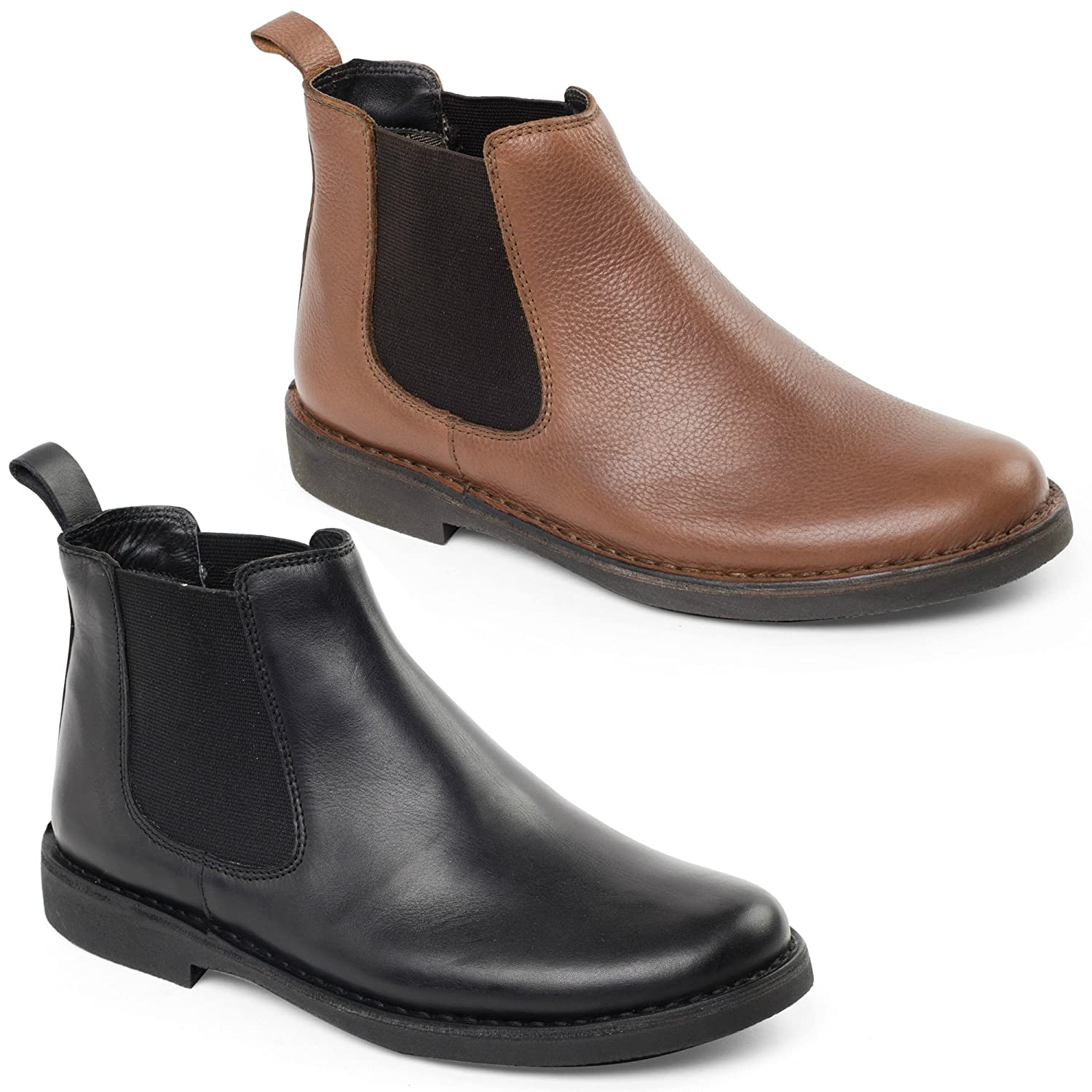 7112d515530 Padders JERRY Mens Leather Wide Dealer Boots Black UK 7  Amazon.co.uk  Shoes    Bags