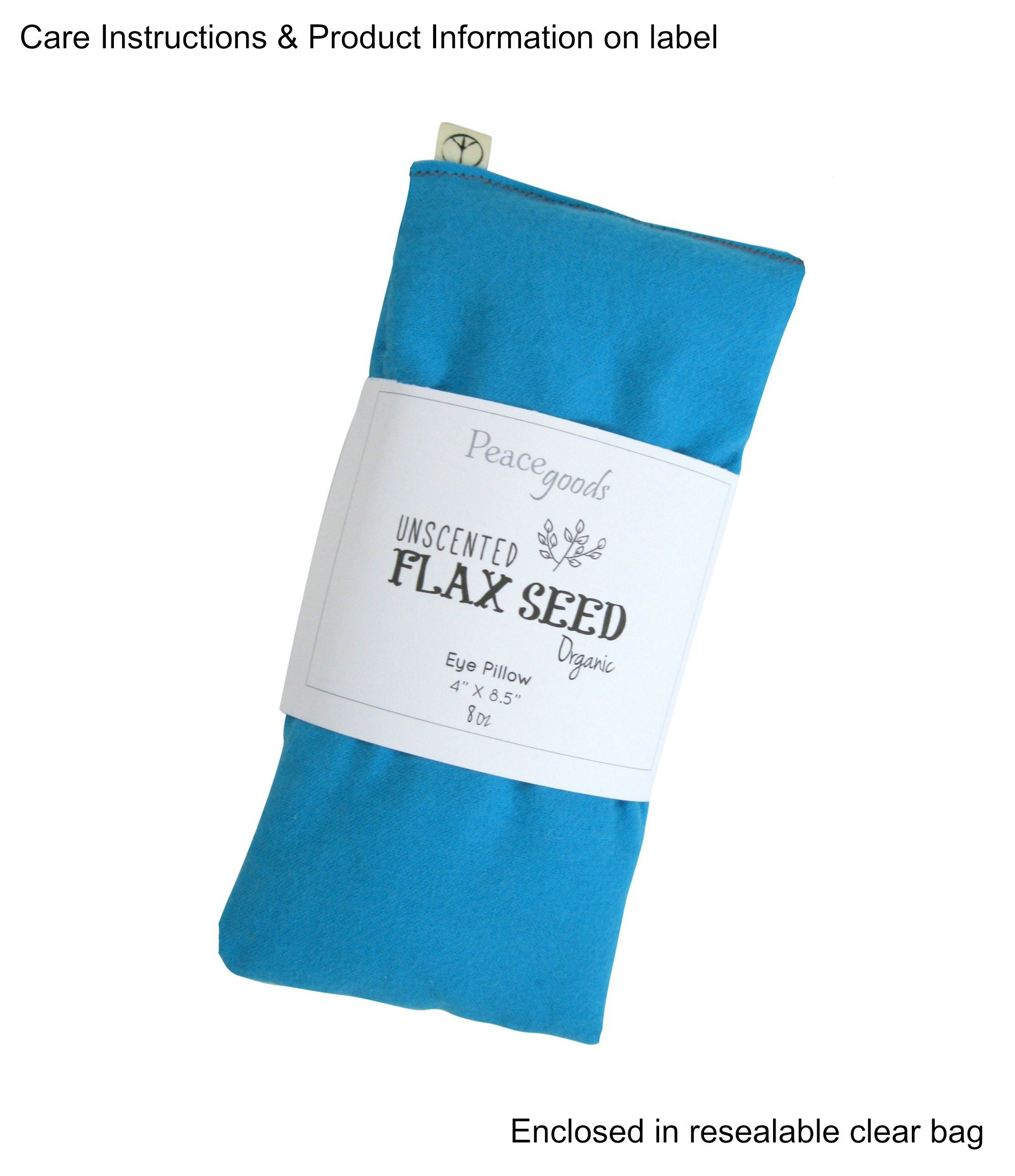 Peacegoods Unscented Organic Flax Seed Eye Pillow - Pack of (6) - Soft Cotton Flannel 4 x 8.5 - Pink Green Purple Gray Fuschia Aqua Turquoise Blue by Peacegoods (Image #2)