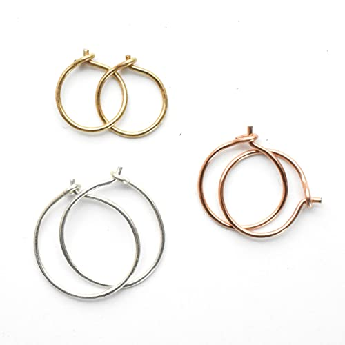 small hoop earrings silver or gold filled