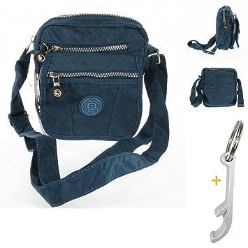 1f651b2205a25  7769 crinkle klein Nylon blau Handtasche praktisch Umhängetasche Bag Street