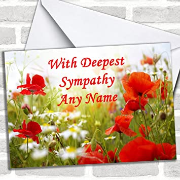 Poppy customised sympathy sorry for your loss greetings card poppy customised sympathy sorry for your loss greetings card sympathy cards m4hsunfo