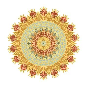 Amazon Pretty Intricate Pointy Mandala Flower Sketch Orange