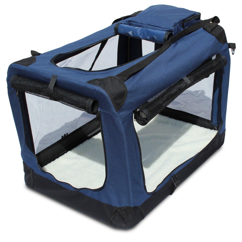 Yatek Transportin para Perros Plegable (60 x 42 x 42cm) entradas Laterales y Superiores con Alta Visibilidad, Confort y Seguridad para tu Mascota de tamaño ...