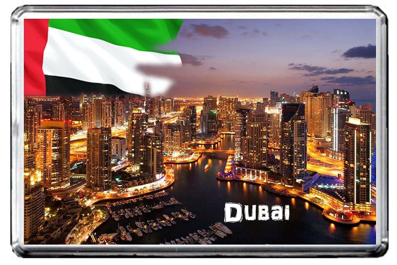 Souvenir Fridge Magnet Abu Dhabi Building United Arab Emirates