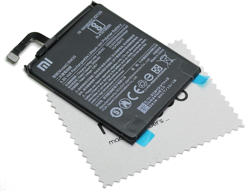 Batería para Xiaomi Original BM39 para Xiaomi Mi 6 con paño mungoo ...