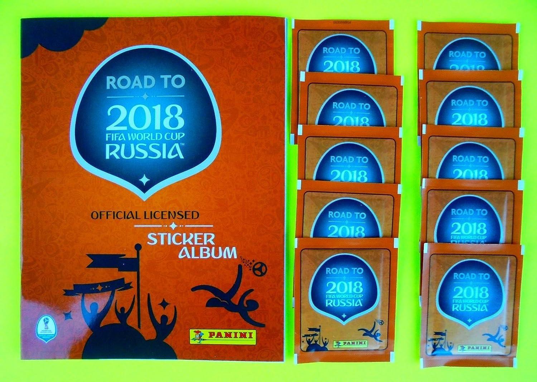 Panini – Road to World Cup 2018 – Sticker Kollektion – WM 2018 Sticker (Album + 10 Tüten)