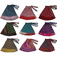 Wevez Women's Plus Size Sari Magic Skirt One Size Assorted