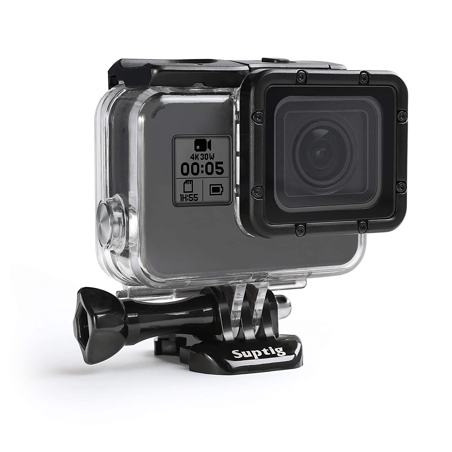 Suptig Case Housing Waterproof Case for Gopro Hero 7 Black Gopro Hero 5 Gopro Hero 6 Gopro Hero 2018 Action Camera Waterproof 147ft(45Meters) RSX-352