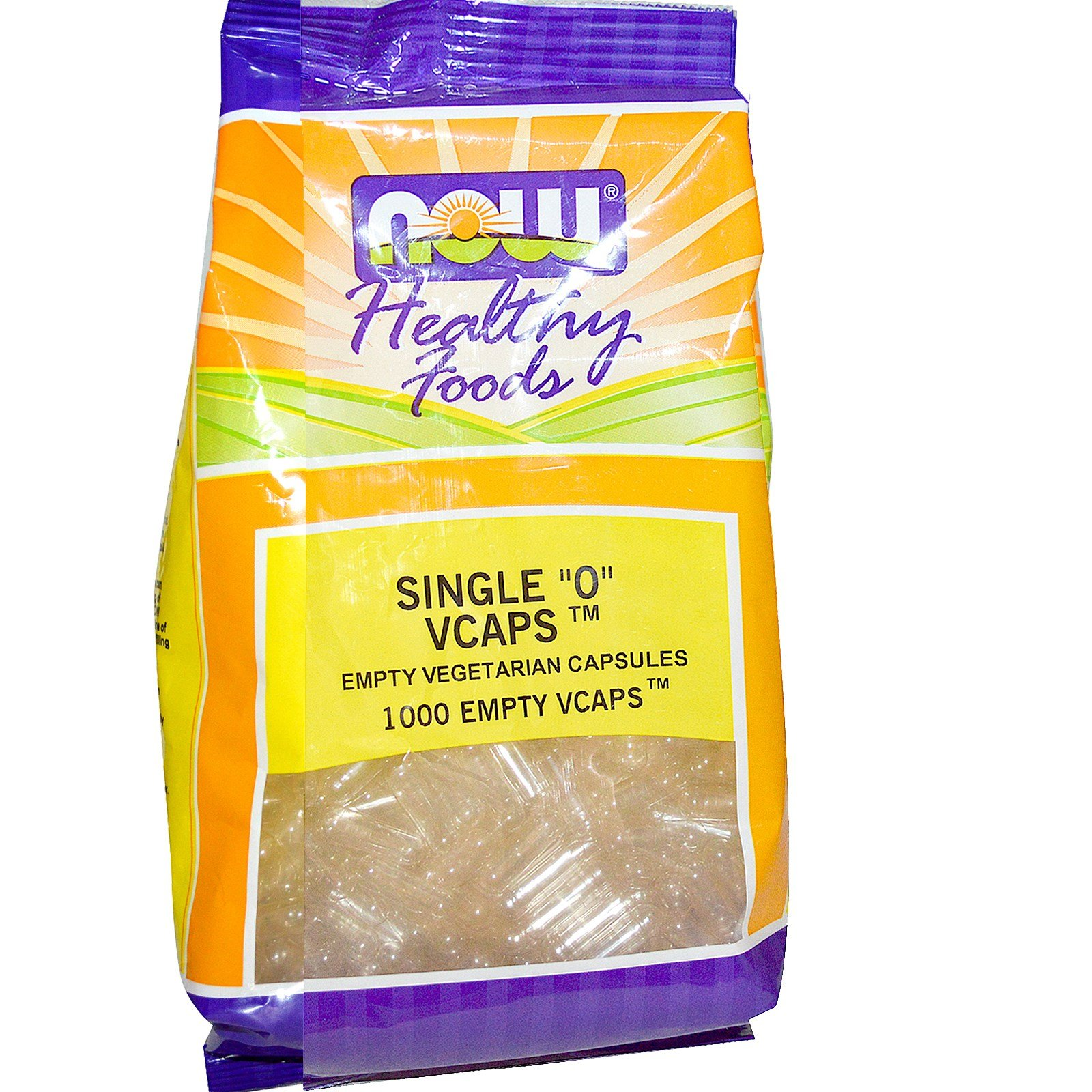 Now Foods, Healthy Foods, Single ''0'' Vcaps, 1000 Empty Vcaps - 3PC