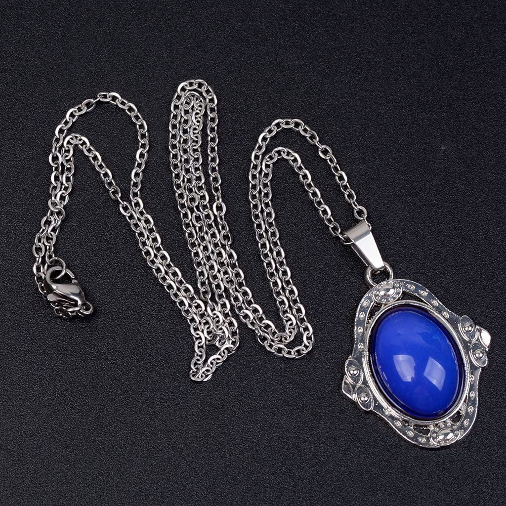 menolana 2pcs Color Change Oval Mood Feeling Temperature Necklace Woman Girls Jewelry