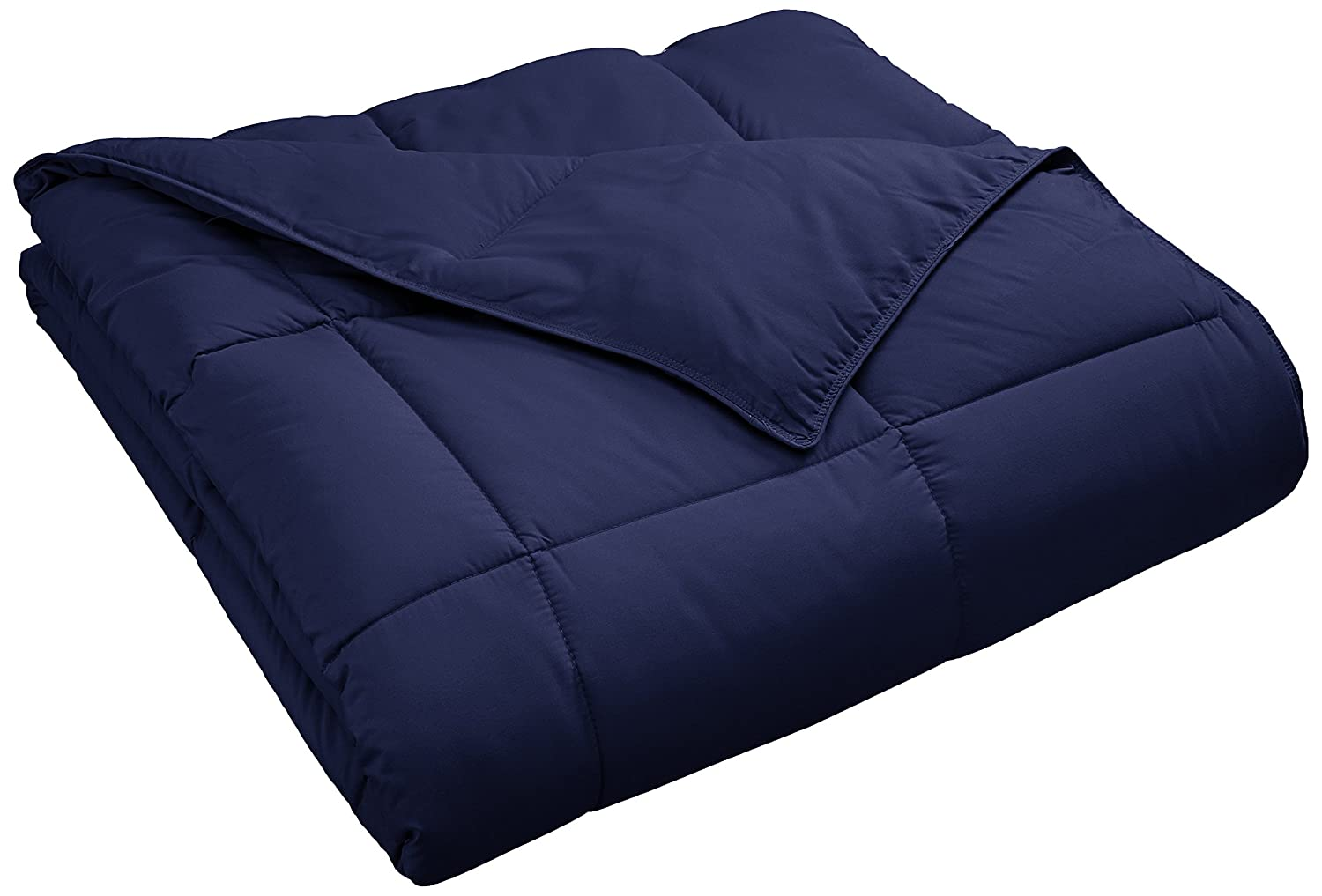 Comforter with Baffle Box Construction, Full/Queen, Navy Blue