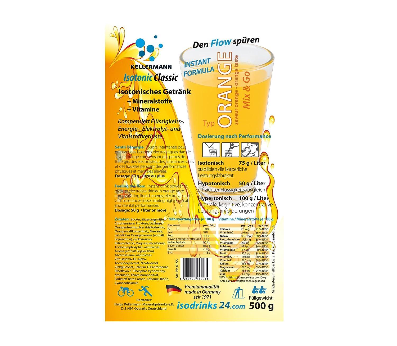 Umkarton Orange Outdoor Sports Drink Kellermann Isotonic Classic 30 ...