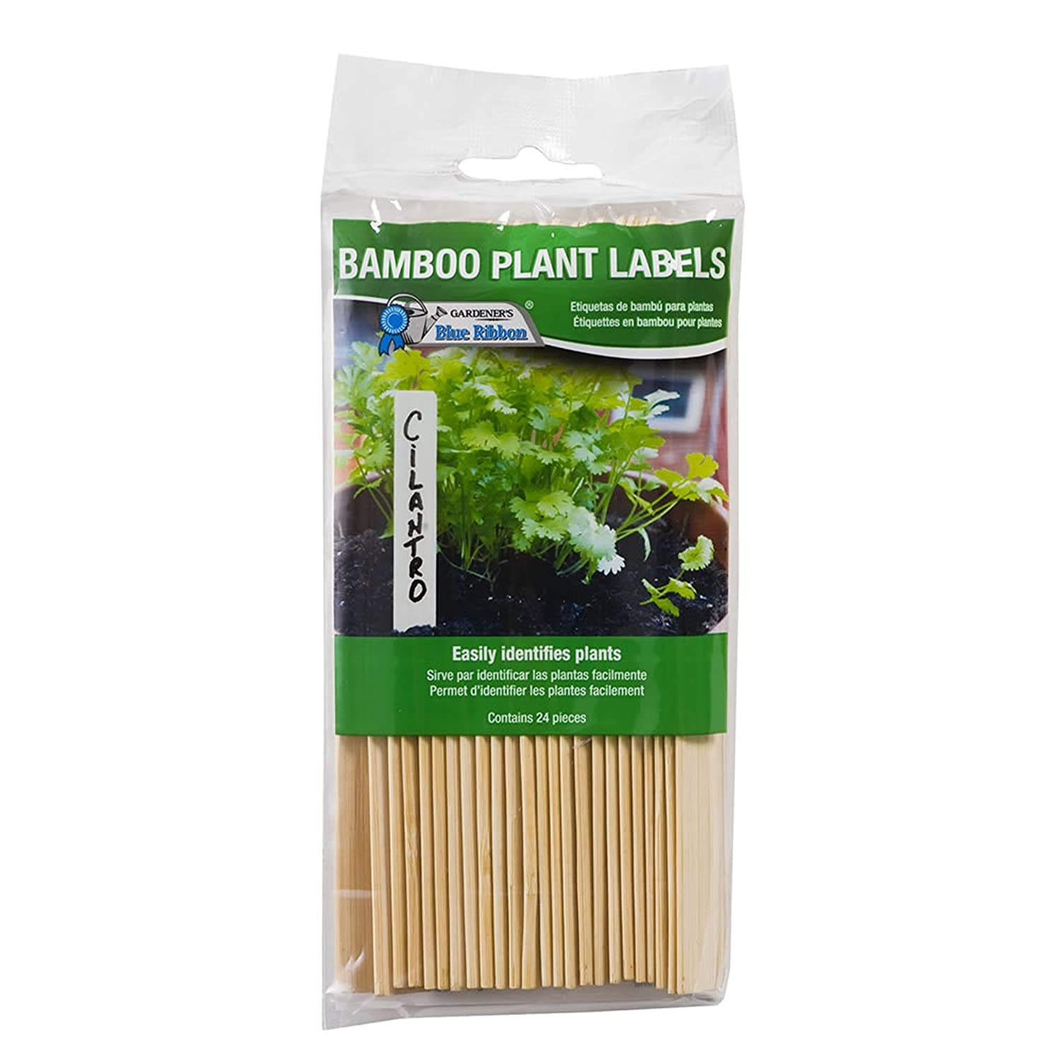 Gardener's Blue Ribbon T020B Bamboo Wood Plant Labels (24 Pack), 6""