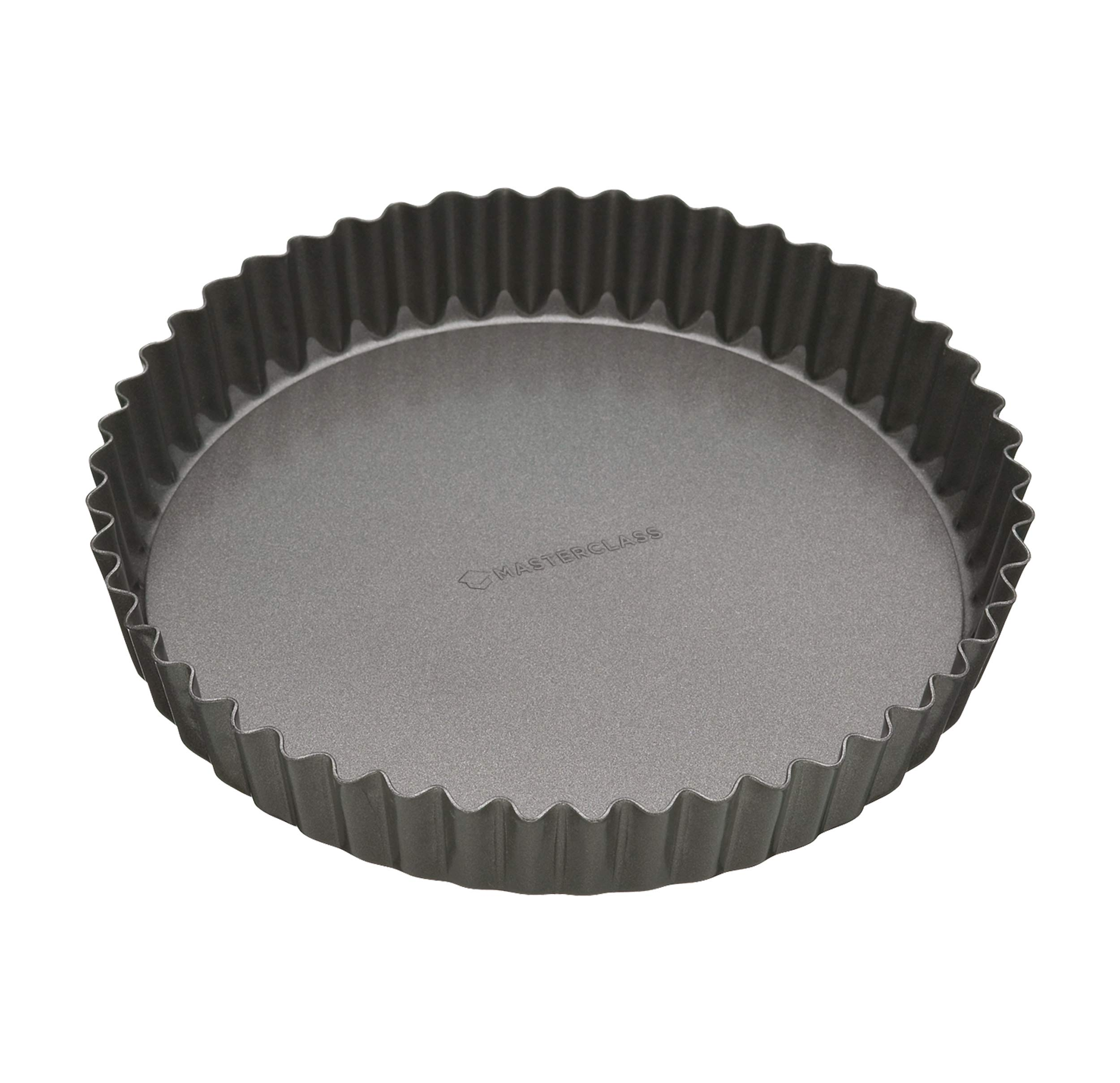 Masterclass Non-stick Fluted Flan Tin / Quiche Pan With Loose Base, 25cm (10'') by Master Class