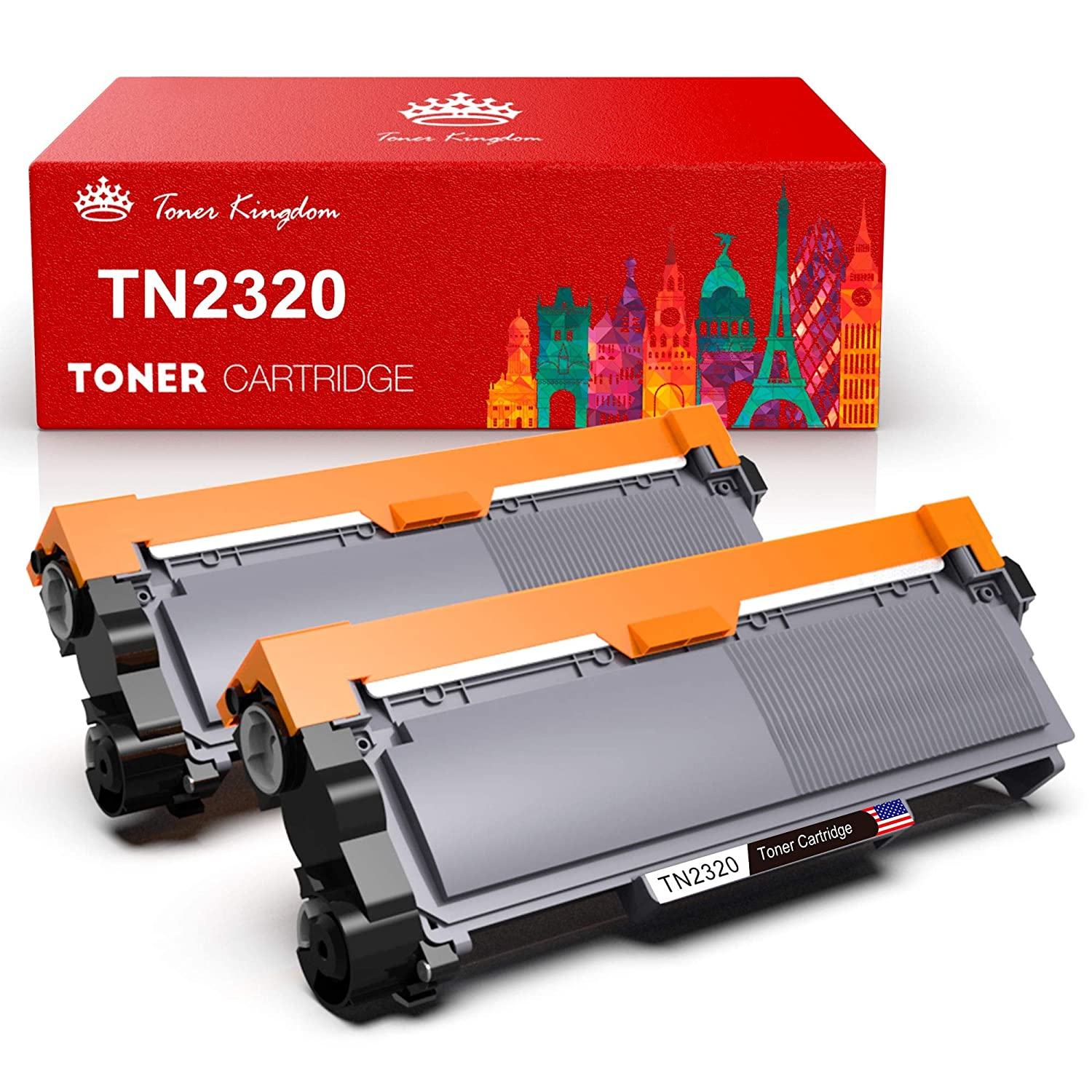 Toner Kingdom 2 Pack Cartucho de tóner Compatible Brother TN2320 ...