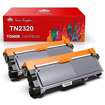 Toner Kingdom 2 Pack Cartucho de tóner Compatible Brother TN2320 para su Uso en Brother HL-L2300D HL-L2320D HL-L2340DW HL-L2360DN HL-L2360DW ...