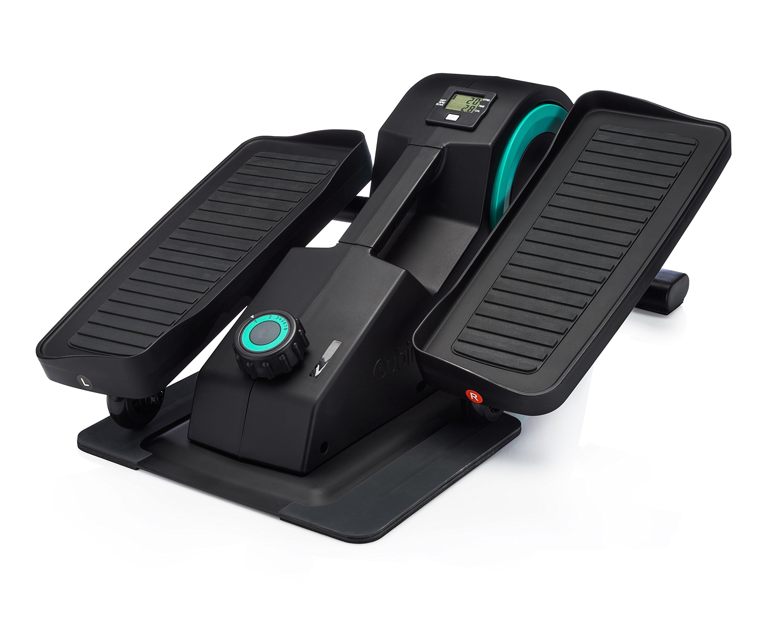Cubii Jr: Desk Elliptical w/ Built In Display Monitor, Easy Assembly, Quiet & Compact, Adjustable Resistance (Aqua) by Cubii