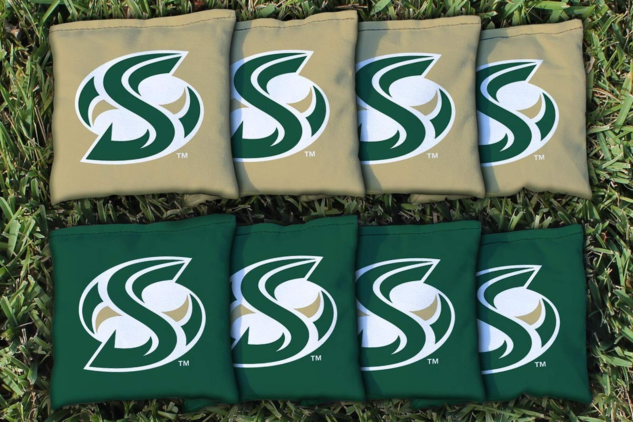Victory Tailgate NCAA Collegiate Regulation Cornhole Game Bag Set (8 Bags Included, Corn-Filled) - Sacramento State Hornets by Victory Tailgate