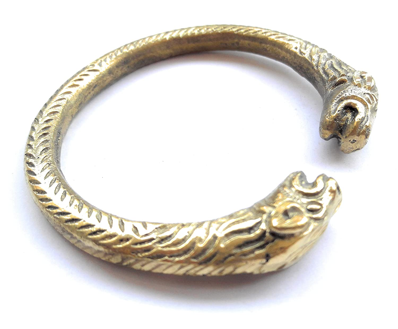 art indo Brass Heavy Bracelet Cuff Kada Kadaa Designer Men Women Fashion Classy