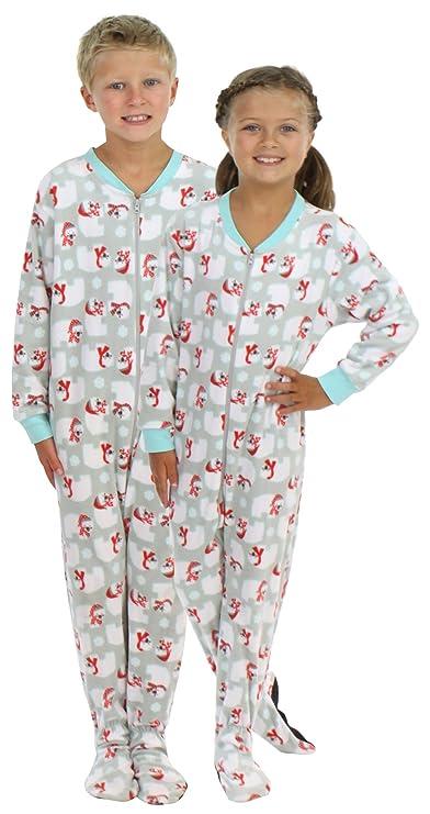 ddba4b2da Amazon.com  SleepytimePjs Kid s Sleepwear Fleece Onesie PJs Footed ...