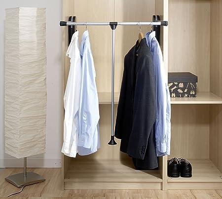 Cómoda eliminación y clasificación de todas las prendas de ropa sin ayuda de escalera,Barra de colga