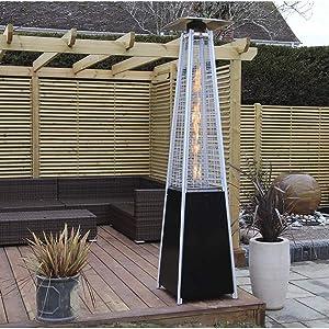 ガードレール Outdoor Heating Patio Heaters Outdoor Freestanding Real Flame Gas Pyramid Patio Heater Outdoor Garden with Wheel 13kw heaters for Patio (Color : A)