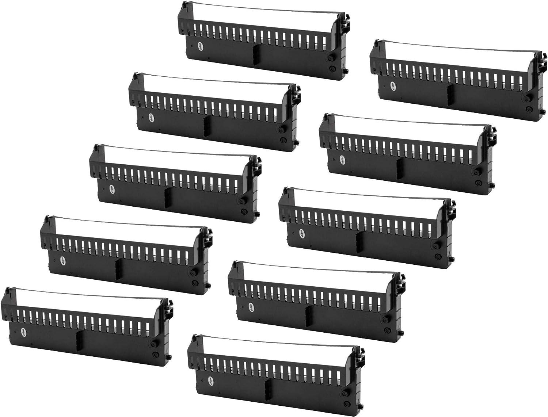 Nadeldrucker schwarz PR 4 SL vhbw Farbband Schriftband passend f/ür Olivetti PR 4 PR 4 DR PR 4 SR Bondrucker