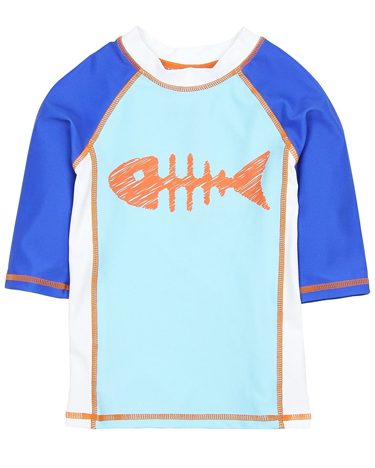 Deux par Deux Boys' Rashguard Coast to Coast, Sizes 18M-10