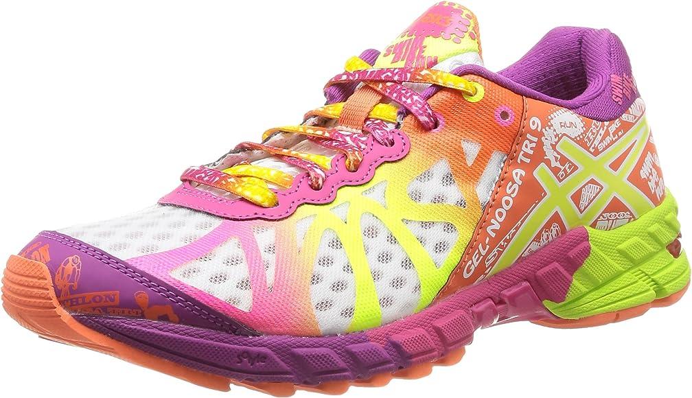 Asics Gel Noosa Tri - Zapatillas de running para mujer, color Wht/Fl.Yell/Pl, talla 36, 0104-White/Flash Yellow/Plum, 40.5: Amazon.es: Zapatos y complementos