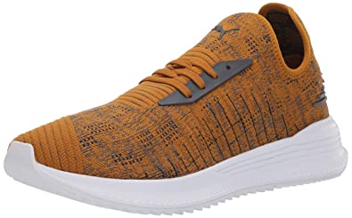 14d63ec13d3343 PUMA Men s AVID Evoknit Mosaic Sneaker Buckthorn Brown-Iron gate Black