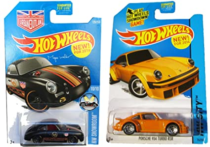 Hot Wheels 2-car Porsche Set Orange 934 Turbo RSR & Magnus Walkers 356A Outlaw