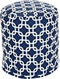 Majestic Home Goods Links Pouf, Small, Navy Blue