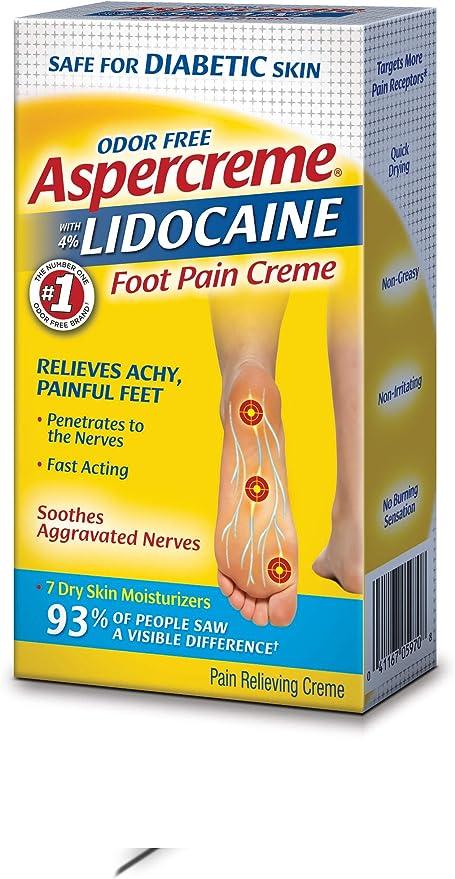 Amazon Com Aspercreme Lidocaine Diabetic Foot Creme 4 Oz Health