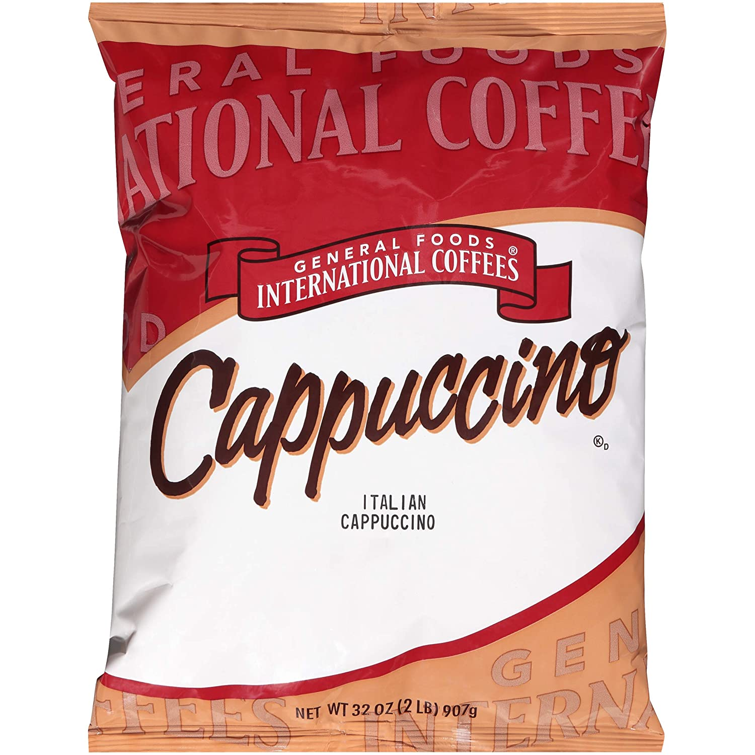 General Foods Italian Cappuccino Instant Coffee Mix (2lb Bags, Pack of 6)
