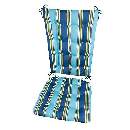 Barnett Products Porch Rocker Cushions Westport Cobalt Extra Large Indoor Outdoor Fade Resistant Mildew Resistant Latex Foam Fill