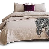 KASENTEX Coverlet Set - Pre Washed - Luxury Microfiber Soft Warm Bedding - Solid Colors Bedspread - Contemporary Design