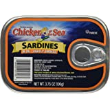 Chicken of the Sea Sardines in Oil - Lightly Smoked 3.75 Oz. (Pack of 6)